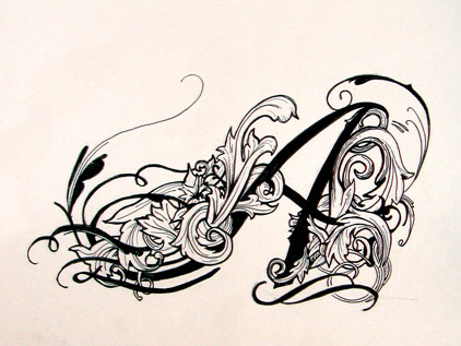 This is Mikes tattoo… on paper. It is the first tattoo design and