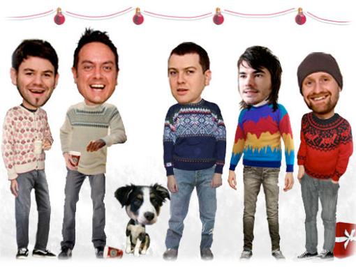 5 numpties in Christmas jumpers
