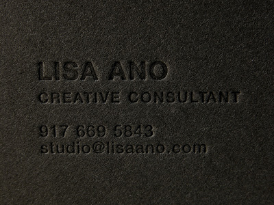 black on black business card