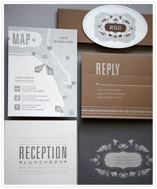 letterpress design wedding invites
